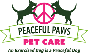 Peaceful Paws Pet Care Square Logo